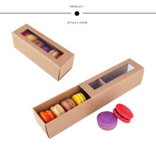 Logo Kustom Brown Kraft Paper Macarons Packaging Box